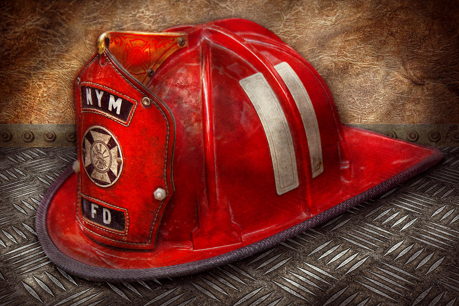 Fireman Photograph - Fireman - Hat - A Childhood Dream by Mike Savad