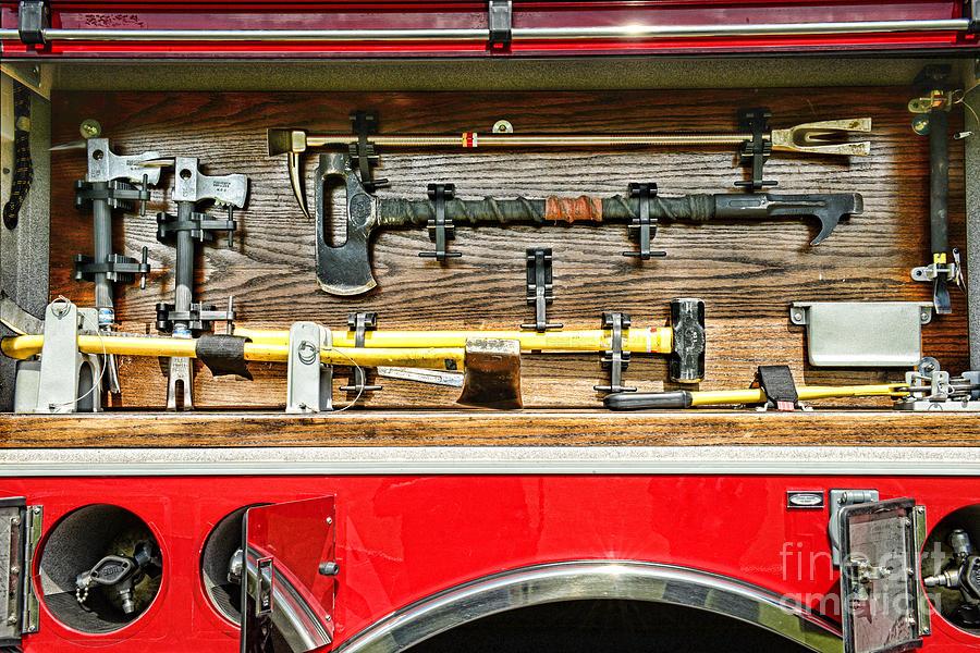 Paul Ward Photograph - Fireman - Life Saving Tools by Paul Ward