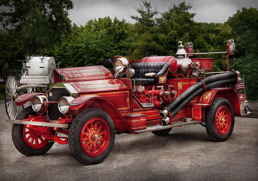 Savad Photograph - Fireman - Phoenix No2 Stroudsburg Pa 1923  by Mike Savad