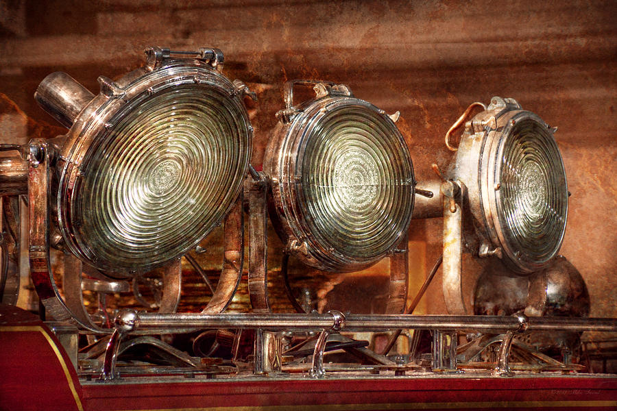 Fireman Photograph - Fireman - Search Lights  by Mike Savad