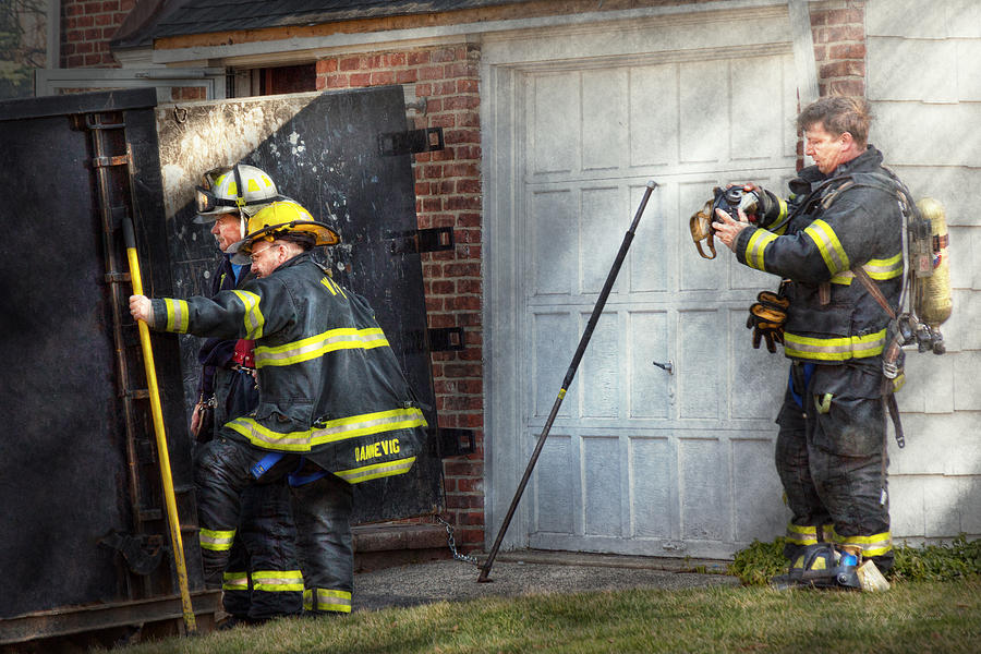 Savad Photograph - Fireman - Take All Fires Seriously  by Mike Savad