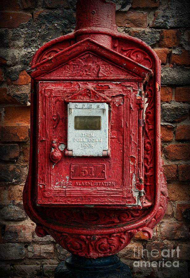 Paul Ward Photograph - Fireman - The Fire Alarm Box by Paul Ward