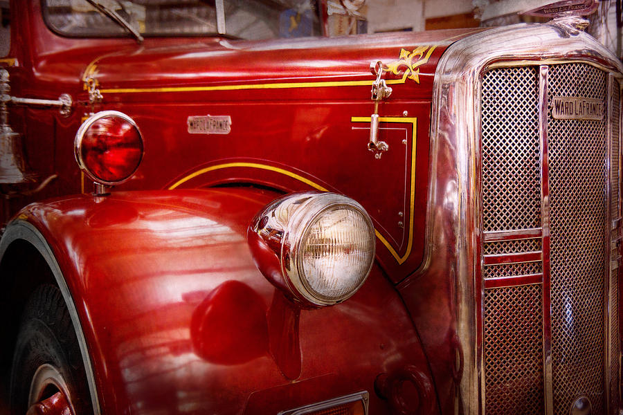 Savad Photograph - Fireman - Ward La France  by Mike Savad
