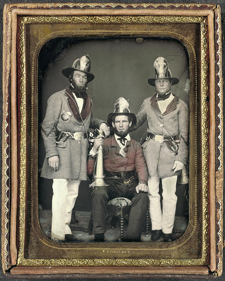 1855 Painting - Firemen, C1855 by Granger