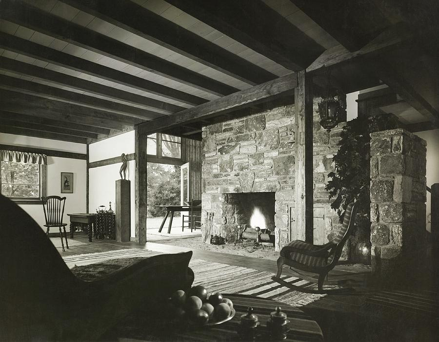 Fireplace In Living Room Photograph by Robert M. Damora