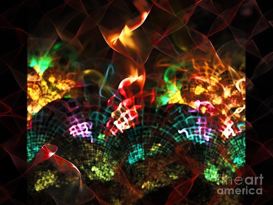 Stove Digital Art - Fireplace by Klara Acel