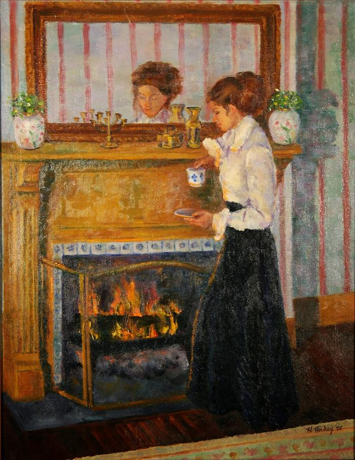 Fireside Painting by Helen Hickey