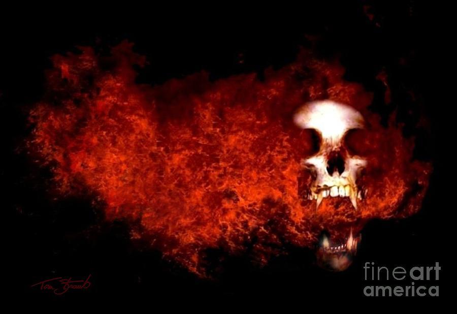 Paranormal Photograph - Fireskull 2 by Tom Straub