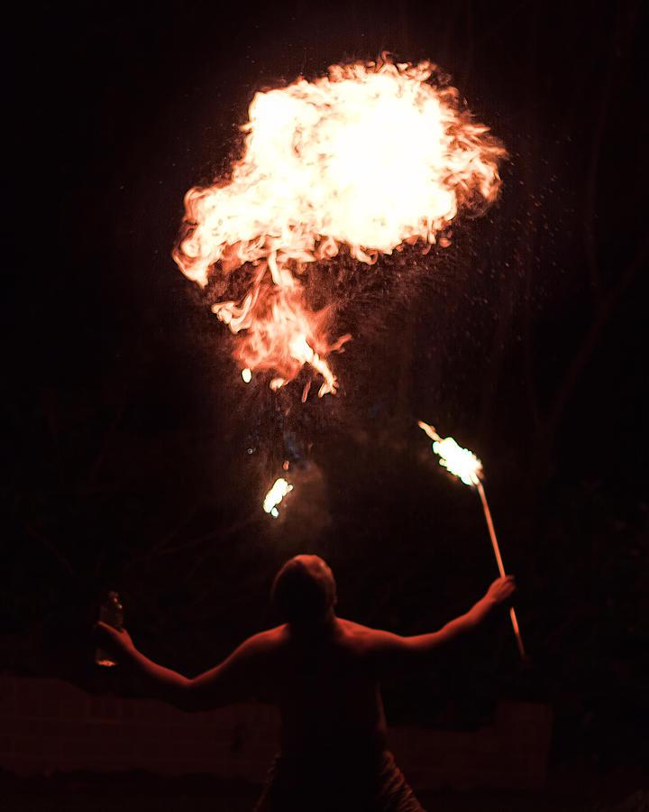 Fire Photograph - Firespitter by Rick Starbuck
