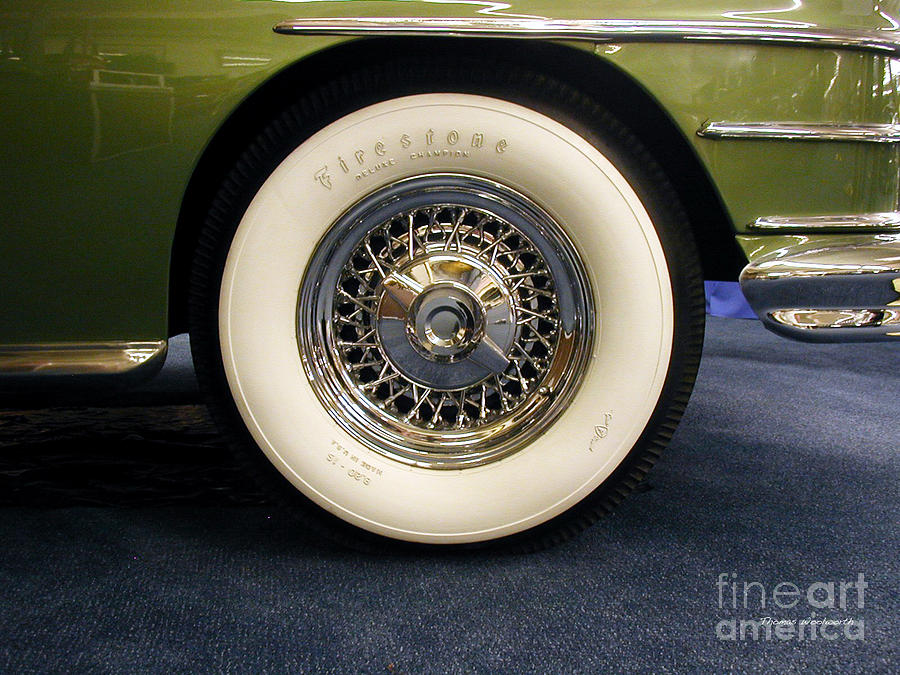 firestone tire photograph firestone white wall tire by thomas woolworth