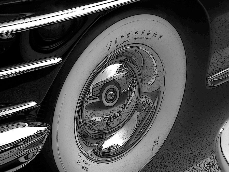 photograph firestone whitewall tire by larry butterworth