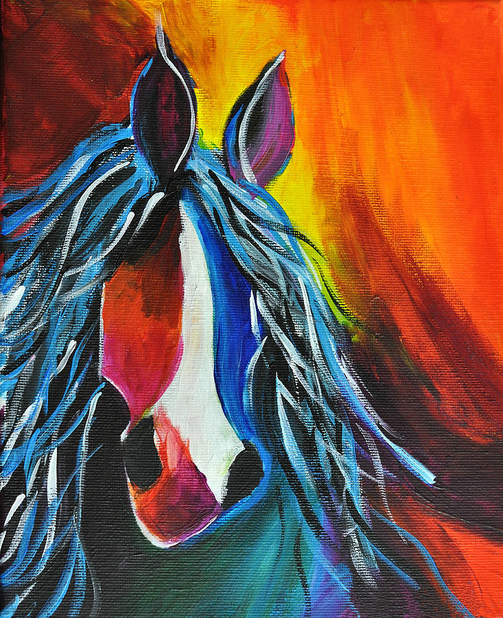 Horse Painting - Firework  by JAMART Photography