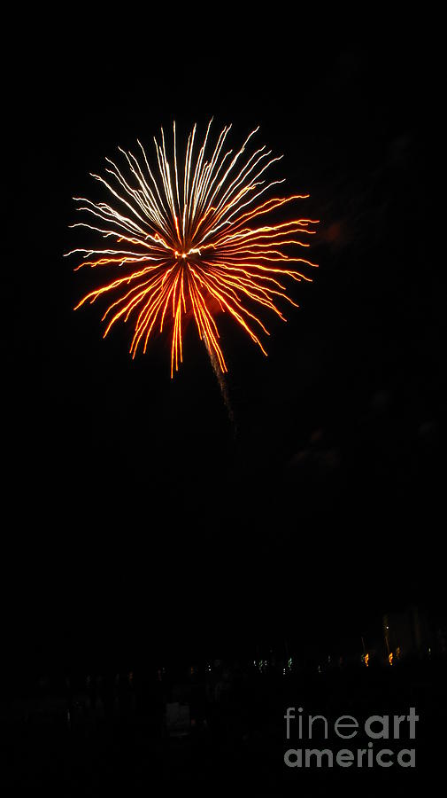 Fireworks Photograph - Fireworks - White And Orange by Gayle Melges
