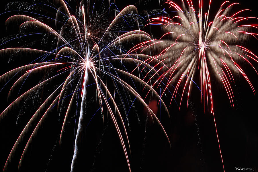 Fireworks Photograph - Fireworks 2 by Andrew Nourse