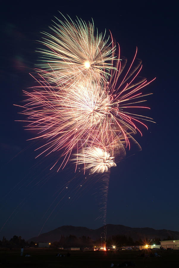 Fireworks Photograph - Fireworks 2 by Wesley Elsberry