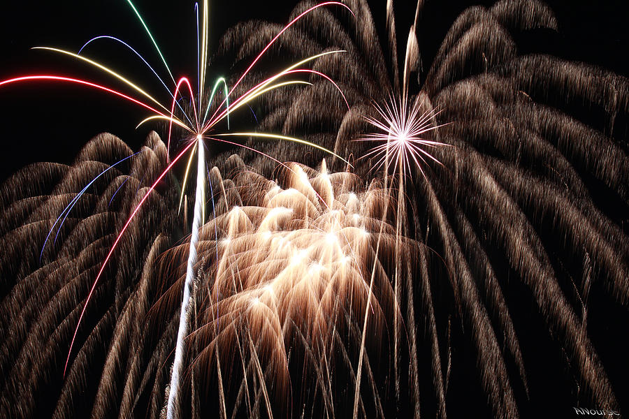 Fireworks Photograph - Fireworks 3 by Andrew Nourse