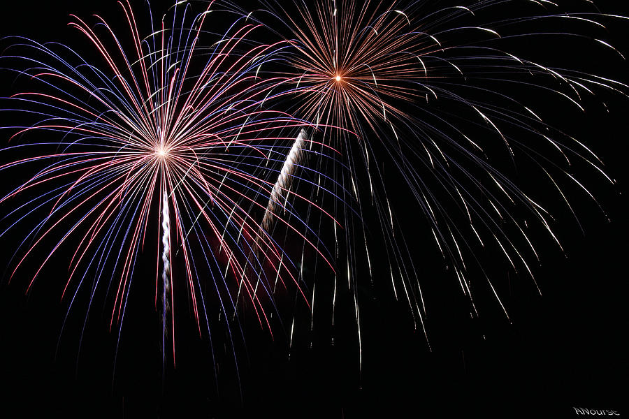 Fireworks Photograph - Fireworks 4 by Andrew Nourse