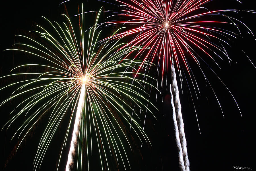 Fireworks Photograph - Fireworks 5 by Andrew Nourse