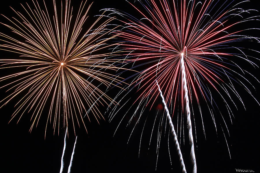 Fireworks Photograph - Fireworks by Andrew Nourse
