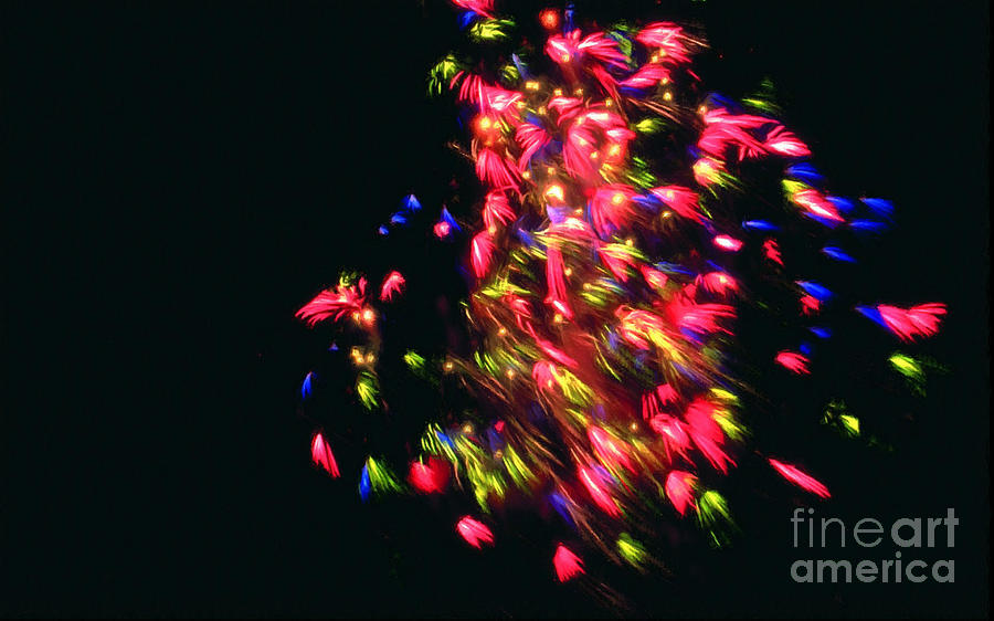 Firework Painting - Fireworks At Night 4 by Jeelan Clark