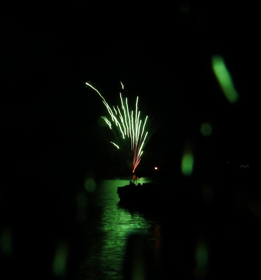 Fireworks At The Lake Photograph by Alex  Call