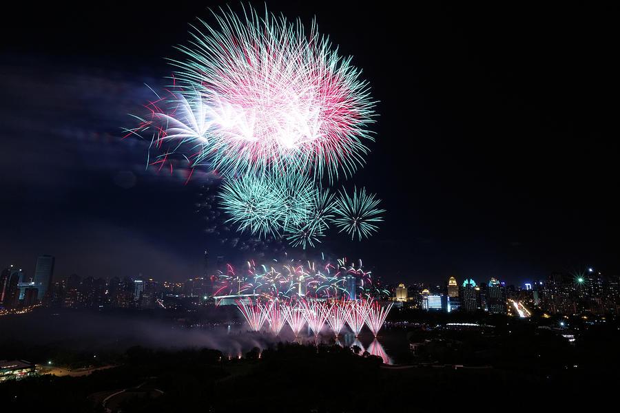 Fireworks Photograph by Blackstation