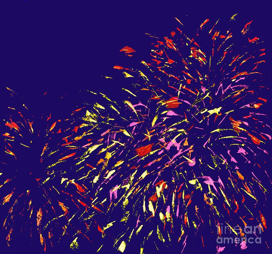 Abstract Painting - Fireworks by Elizabeth Blair-Nussbaum