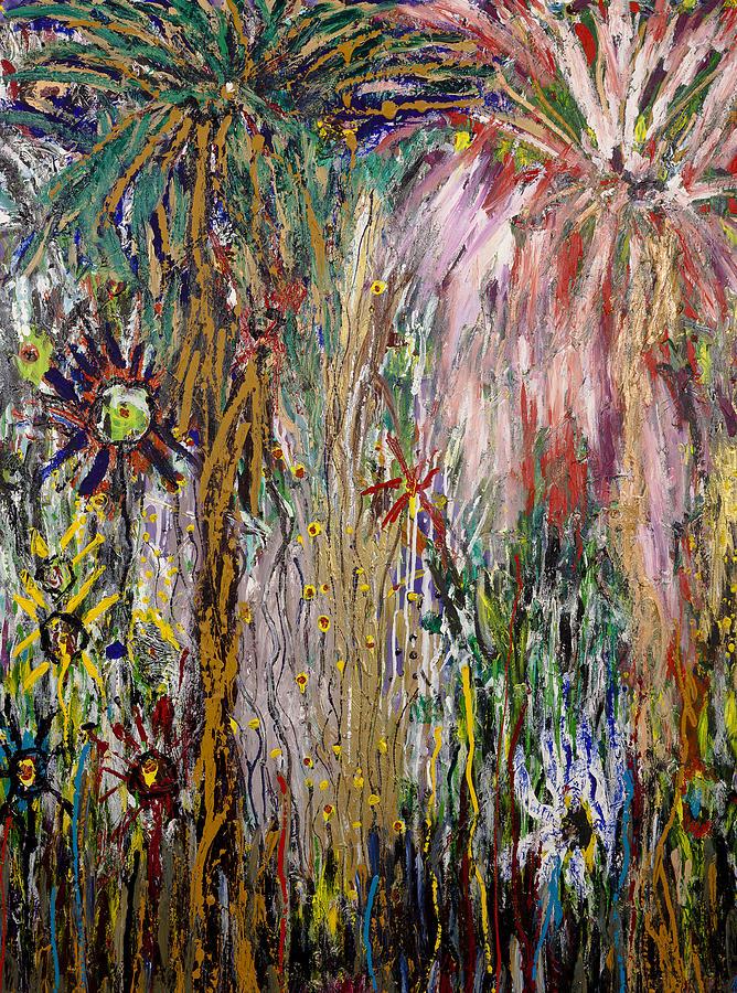 Fireworks Painting - Fireworks by Joe Billera