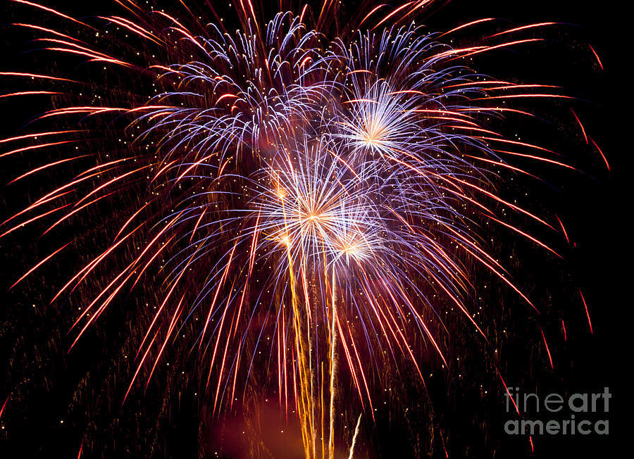 Bright Photograph - Fireworks by Philip Pound