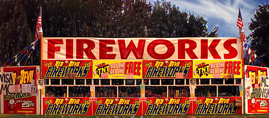 Fireworks Photograph - Fireworks by Ron Regalado