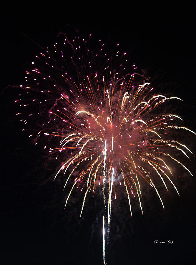 July Photograph - Fireworks Series Xiv by Suzanne Gaff