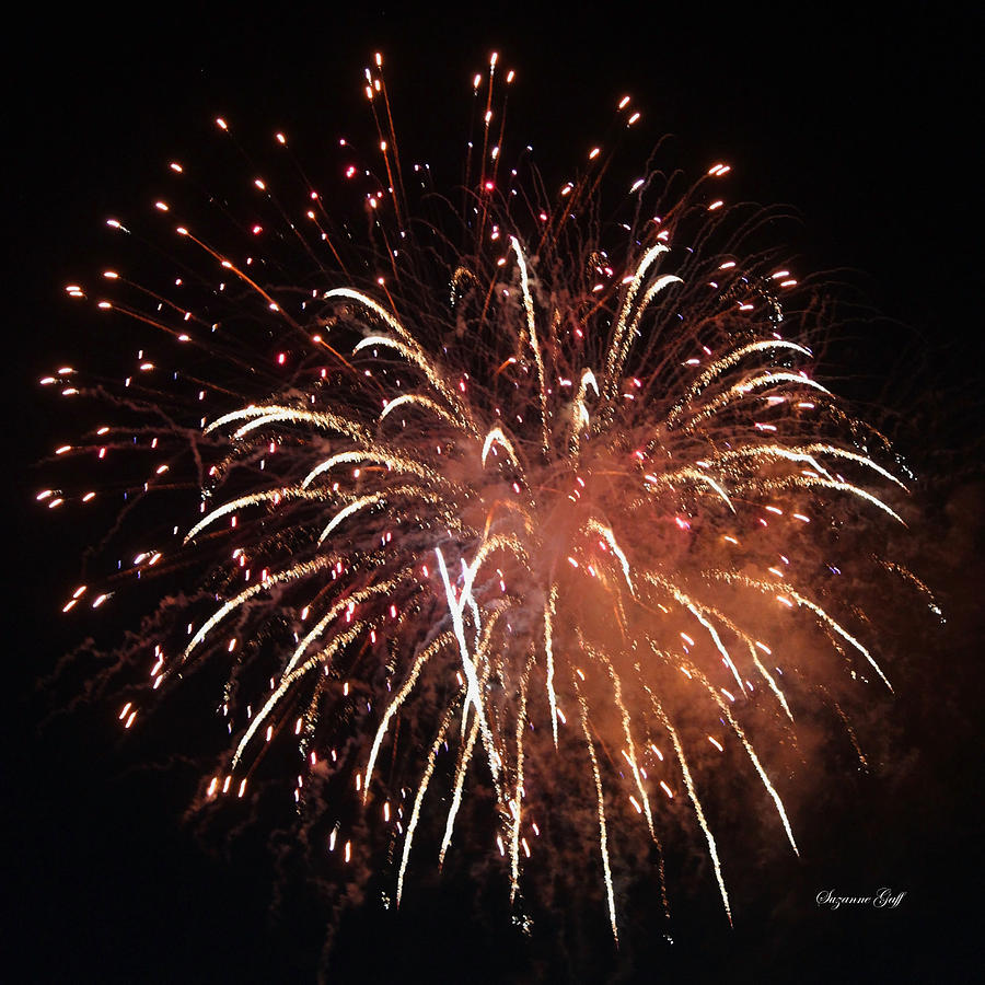 July Photograph - Fireworks Series Xv by Suzanne Gaff