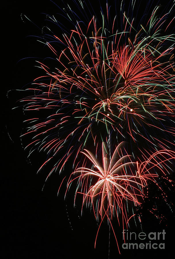 Firework Photograph - Fireworks6525 by Gary Gingrich Galleries
