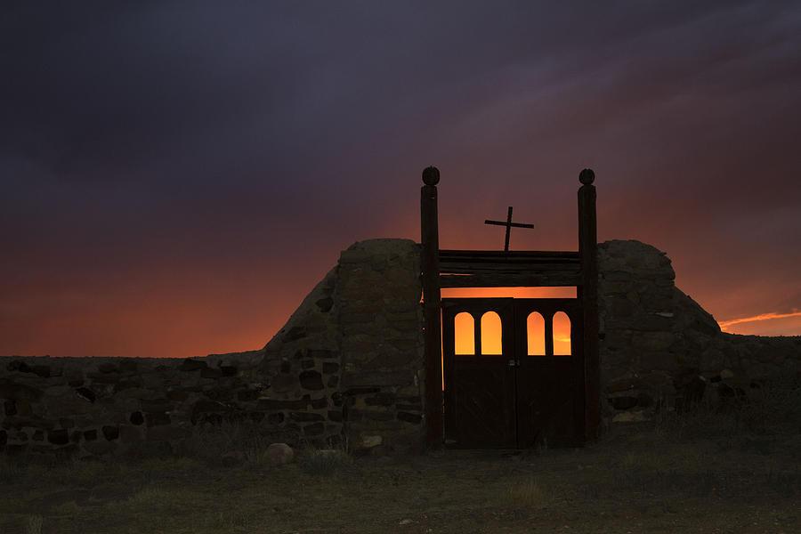 Sunset Photograph - Firey Sunset by Jeanne Hoadley