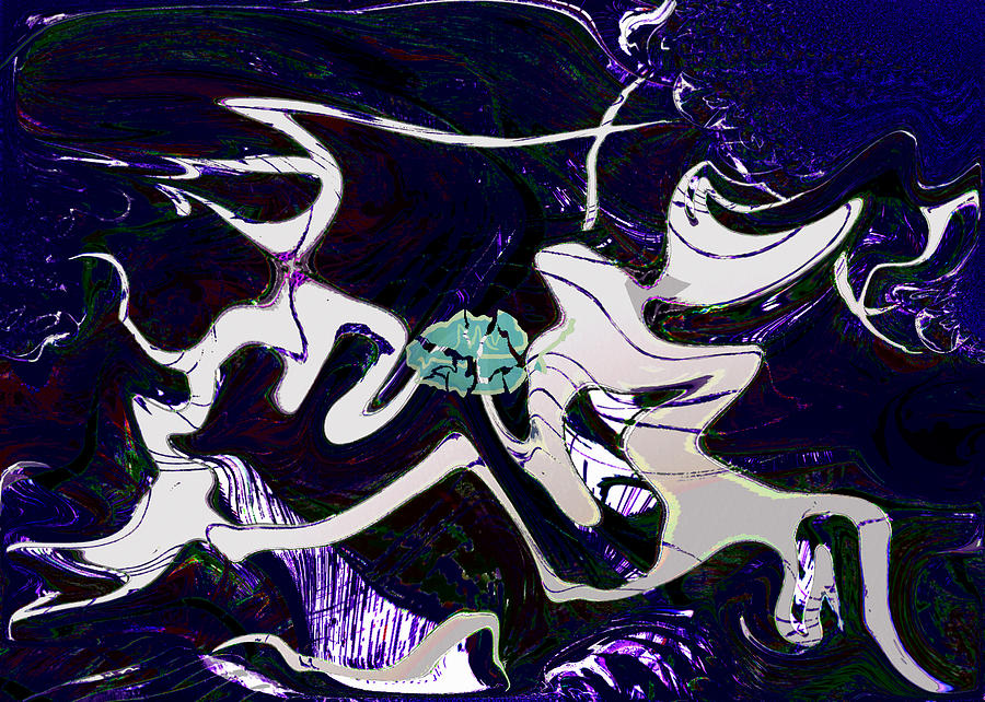 Grief Digital Art - Firmament Cracked #11 Tapestry Of Pain by Mathilde Vhargon