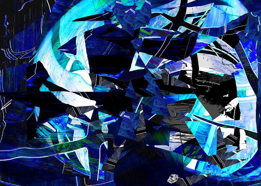 Globe Digital Art - Firmament Cracked #9 - All Which Once Was Beautiful by Mathilde Vhargon