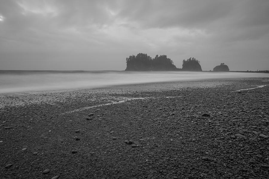 First Beach Black And White Photograph