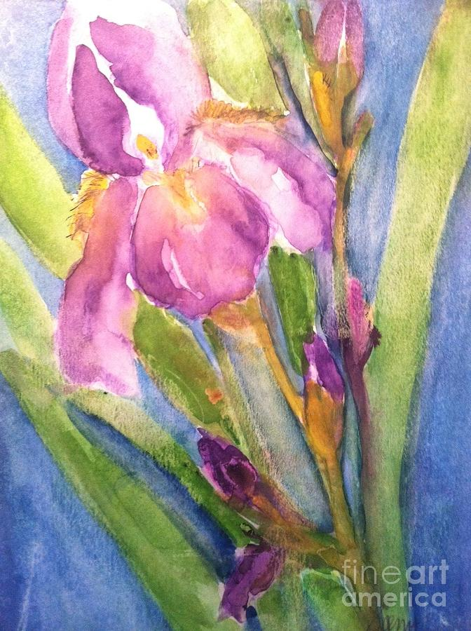 Owl Painting - First Bloom by Sherry Harradence