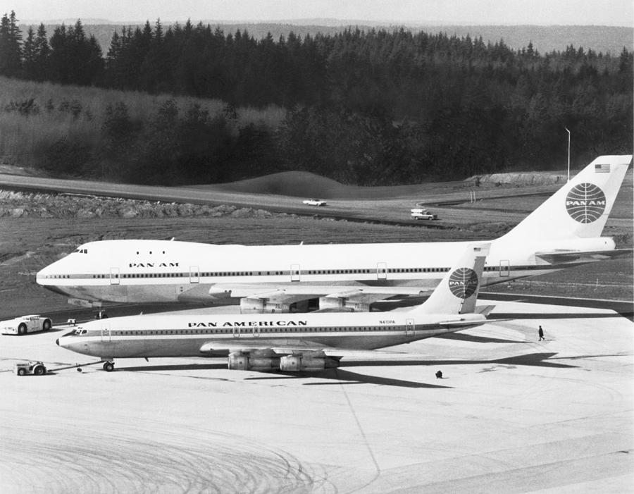 1960s Photograph - First Boeing 747 by Underwood Archives