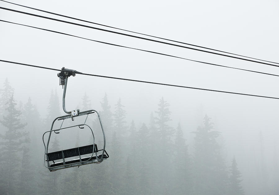 Aspen Photograph - First Chair In The Storm by Adam Pender