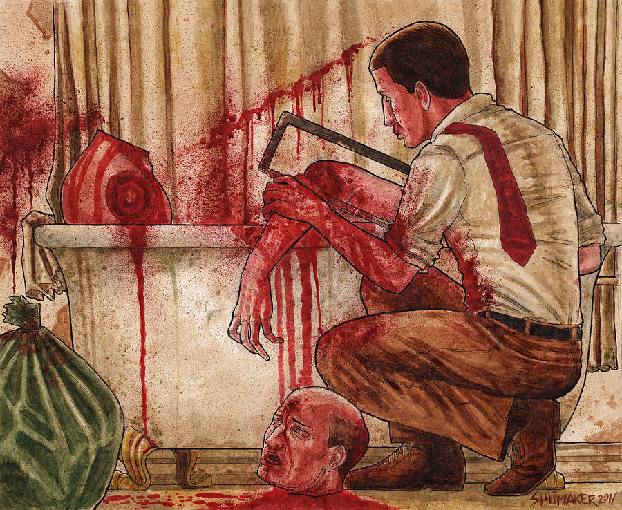 First Dismemberment Painting by David Shumate