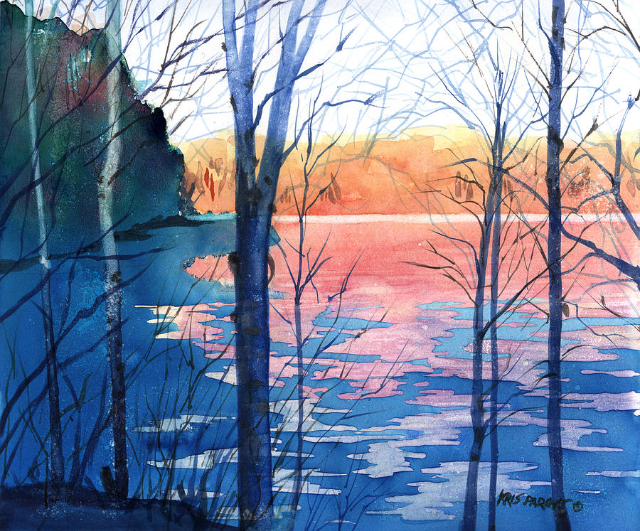 Artist Painting - First Ice by Kris Parins