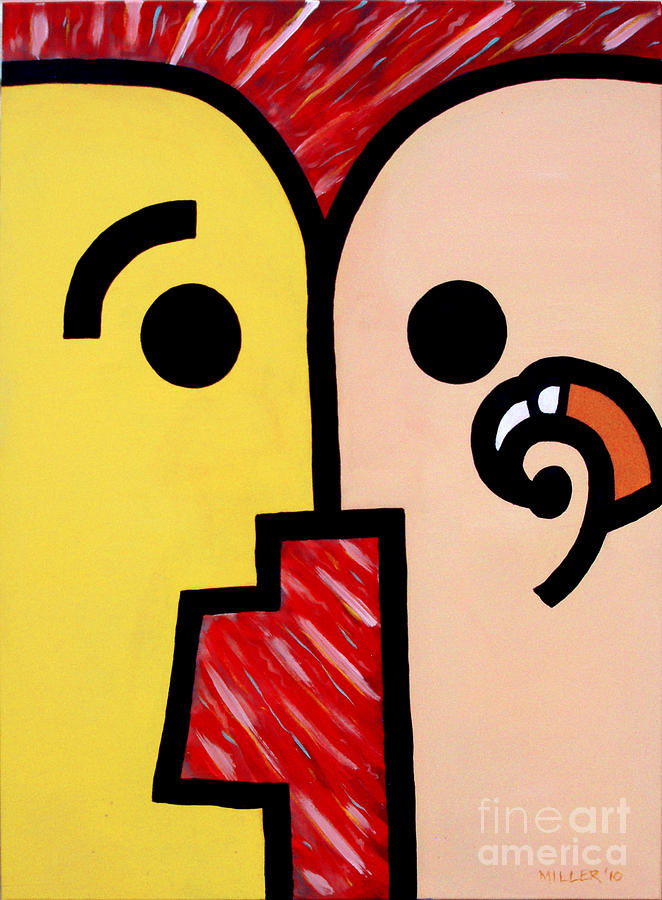 Deafness Painting - First Impression by Warren Miller