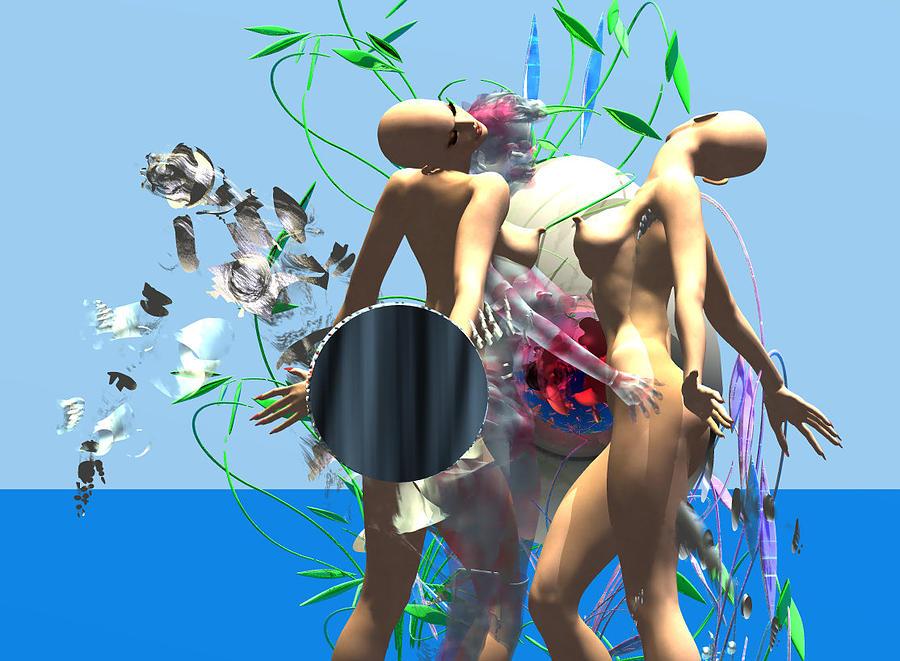 First Kiss 300 D Digital Art by Stephen Donoho