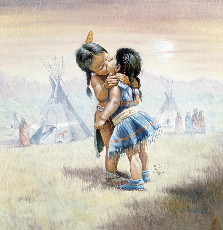 Gregory Perillo Painting - First Kiss by Gregory Perillo