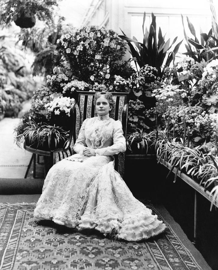 1900 Photograph - First Lady Ida Mckinley by Underwood Archives