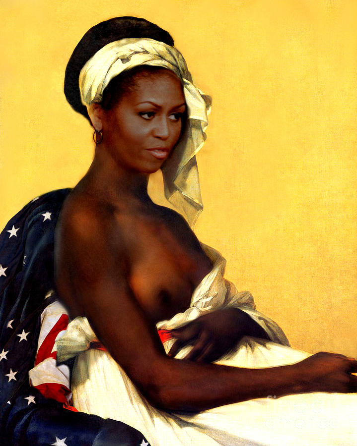 Michelle Obama Painting - First Lady by Karine Percheron-Daniels