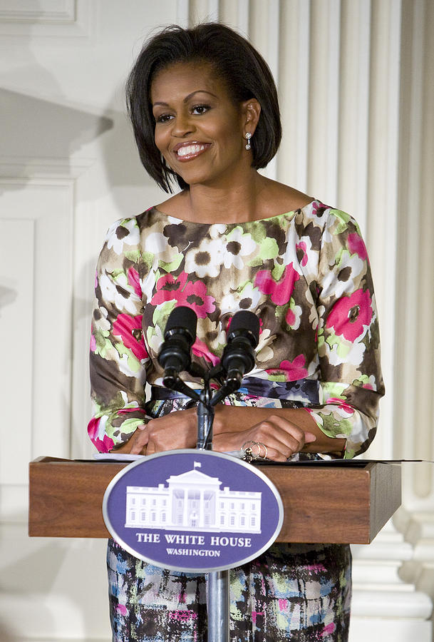 Michelle Obama Photograph - First Lady Michelle Obama by JP Tripp