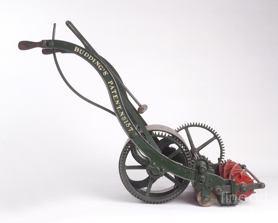 First Lawnmower, 1830 Photograph by Clive Streeter ... First Photograph 1830