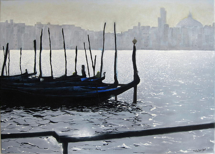 Waterscape Painting - First Light Dorsoduro by Martin Davis